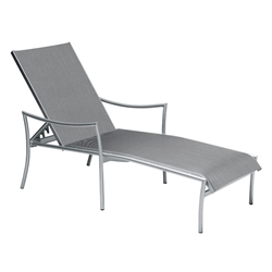Woodard Dominica Sling Adjustable Chaise Lounge - Stackable - 2C0470