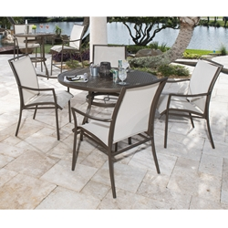 Woodard Dominica Sling Patio Dining Set - WD-DOMINICA-SET2