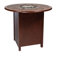 Woodard Aluminum Bar Fire Table with Round Burner - 1CM3SQRB