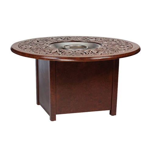 Woodard napa fire pit table woodard at for Concreteworks fire table