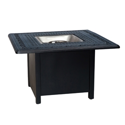 Woodard Aluminum Chat Fire Table with Square Burner - 65M742