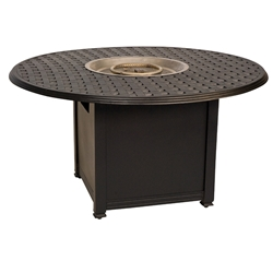 Woodard Aluminum Chat Fire Table with Round Burner - 65M748