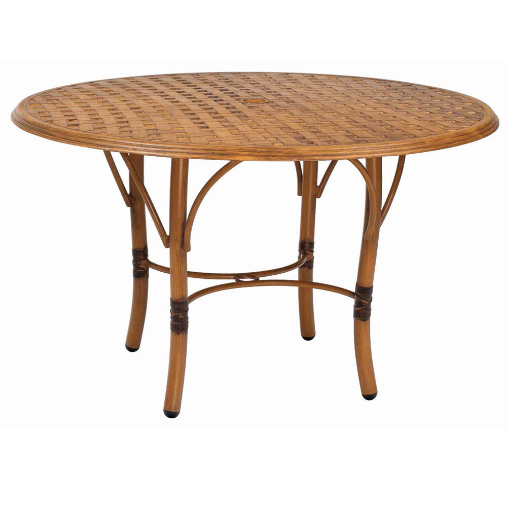 glade isle 48 inch round dining table woodard at