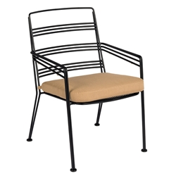Woodard Madison Stackable Dining Chair with Seat Cushion - 2D0017ST