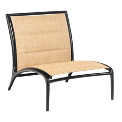Woodard Orion Armless Lounge Chair with Padded Sling - 990562
