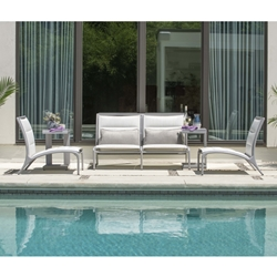 Woodard Orion Padded Sling Casual Outdoor Furniture Set - WD-ORION-SET1