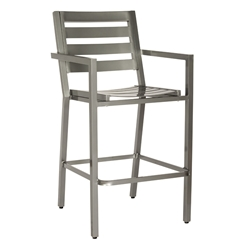 Woodard Palm Coast Slat Bar Chair - 1Y0481