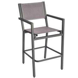 Woodard Palm Coast Sling Bar Stool With Arms - 570671