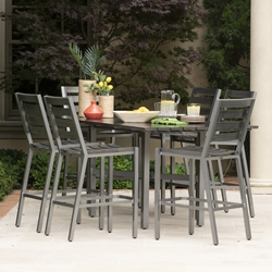Woodard Palm Coast Aluminum Outdoor Counter Height Furniture Set - WD-PALMCOAST-SET7