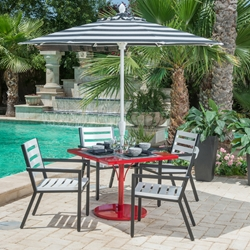 Woodard Palm Coast Slat 5 Piece Dining Set - WD-PALMCOAST-SET5