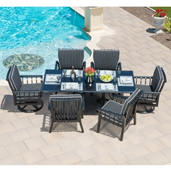Woodard Rhyss 7 Piece Dining Set - WD-RHYSS-SET1