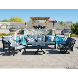 Woodard Rhyss Cast Aluminum Patio Set - WD-RHYSS-SET2
