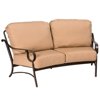 Woodard Ridgecrest Cushion Crescent Loveseat - 8PM463