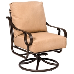 Woodard Ridgecrest Cushion Swivel Rocking Lounge Chair - 8PM477