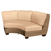Woodard Saddleback Curved Sectional Unit - S523071