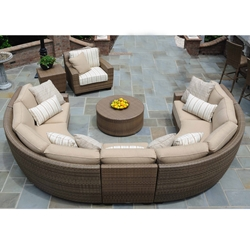 Woodard Saddleback Sectional with Lounge Chair - WD-SADDLEBACK-SET7