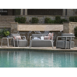 Woodard Scout Outdoor Wicker Love Seat and Lounge Chair Set - WD-SCOUT-SET1