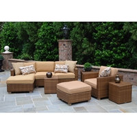 Woodard Sedona Sectional Patio Set - WHITECRAFT-SEDONA-SET1