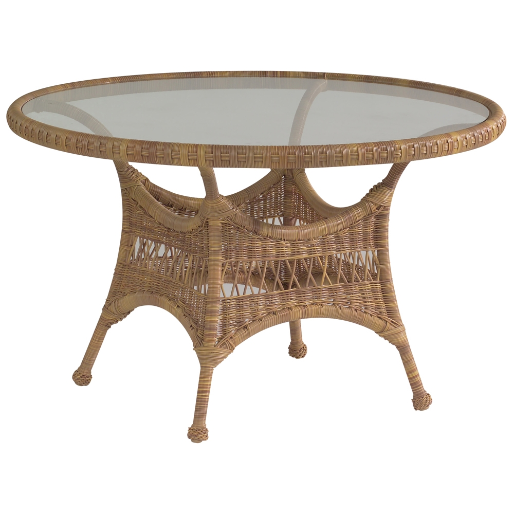 Sommerwind Glass Top Wicker Dining Table Woodard At