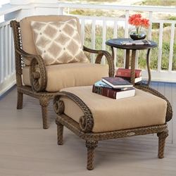 Woodard South Shore 3-Piece Wicker Lounge Chair Set - WD-SOUTHSHORE-SET4