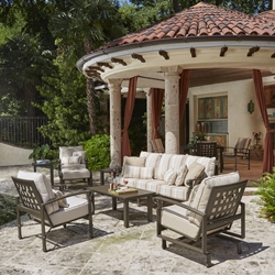Woodard Spartan Cast Aluminum Patio Sofa Set - WD-SPARTAN-SET3