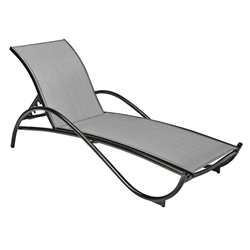 Woodard Tribeca Sling Adjustable Chaise Lounge - Stackable - 5D0470