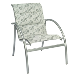 Woodard Tribeca Padded Sling Dining Chair - Stackable - 5D0501
