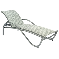 Woodard Tribeca Padded Sling Adjustable Chaise Lounge - Stackable - 5D0570