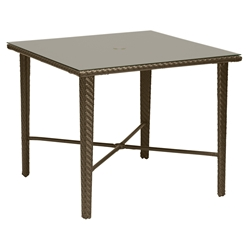 Woodard Trinidad Square Umbrella Dining Table - 6U0036J
