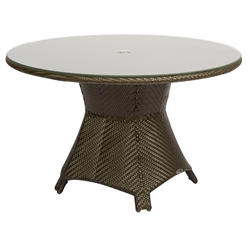 Woodard Trinidad Round Umbrella Dining Table - 6U0165J