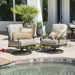 Woodard Wilshire Swivel Rocker Lounge Chair Outdoor Furniture Set - WD-WILTSHIRE-SET5