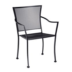 Woodard Amelie Stacking Bistro Arm Chair - 4X0009
