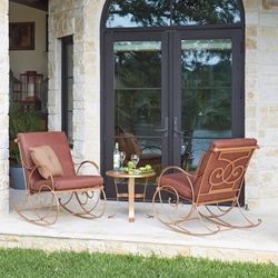 Woodard Wellington Wrought Iron Rocker Set - WD-WELLINGTON-SET1